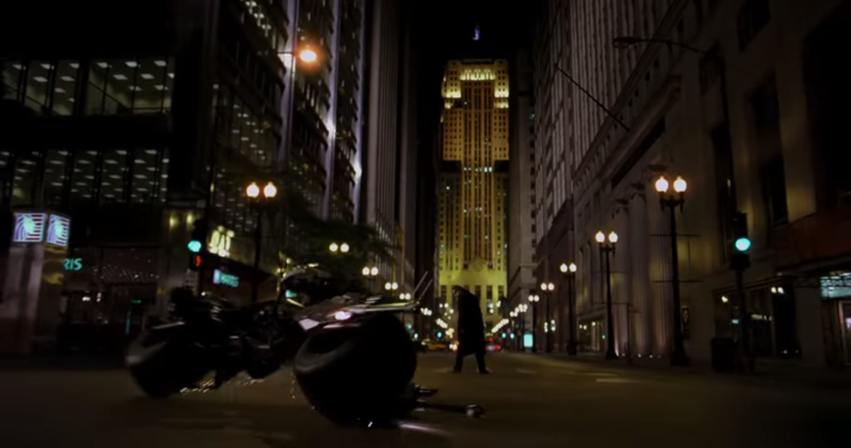 An iconic and game changing film itself, 'The Dark Knight' borrowed inspiration from the 1989 film, like this shot being reminiscent of the climax of the latter film during the parade scene.