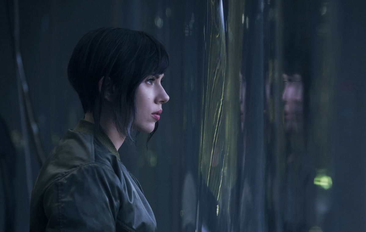 "Scarlett Johansson as The Major in ""Ghost in the Shell."""