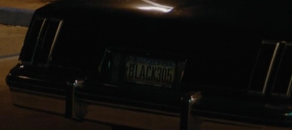 Black305 license plate.