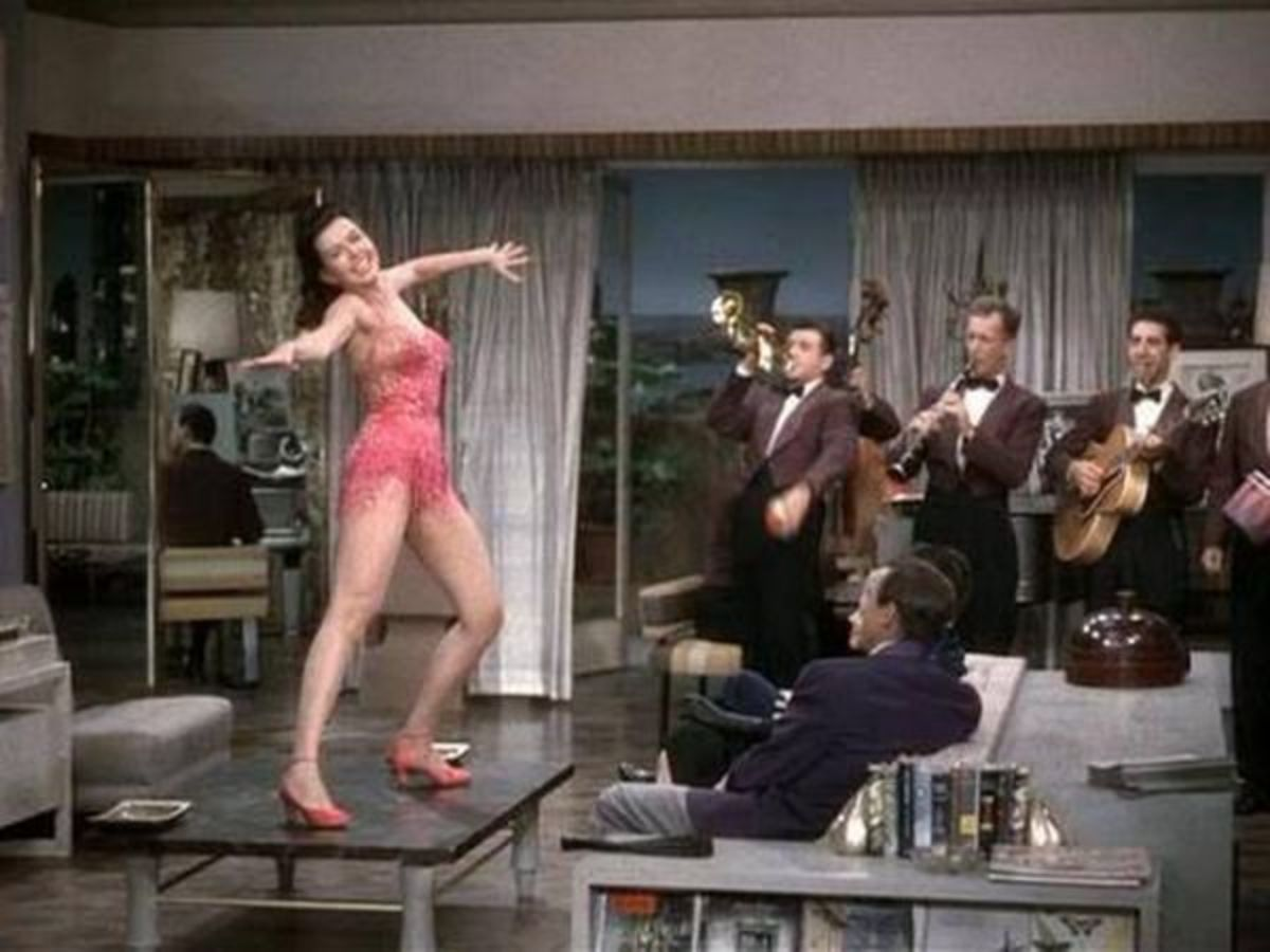 Ann Miller singing a fast-tempo version of Too Darn Hot.