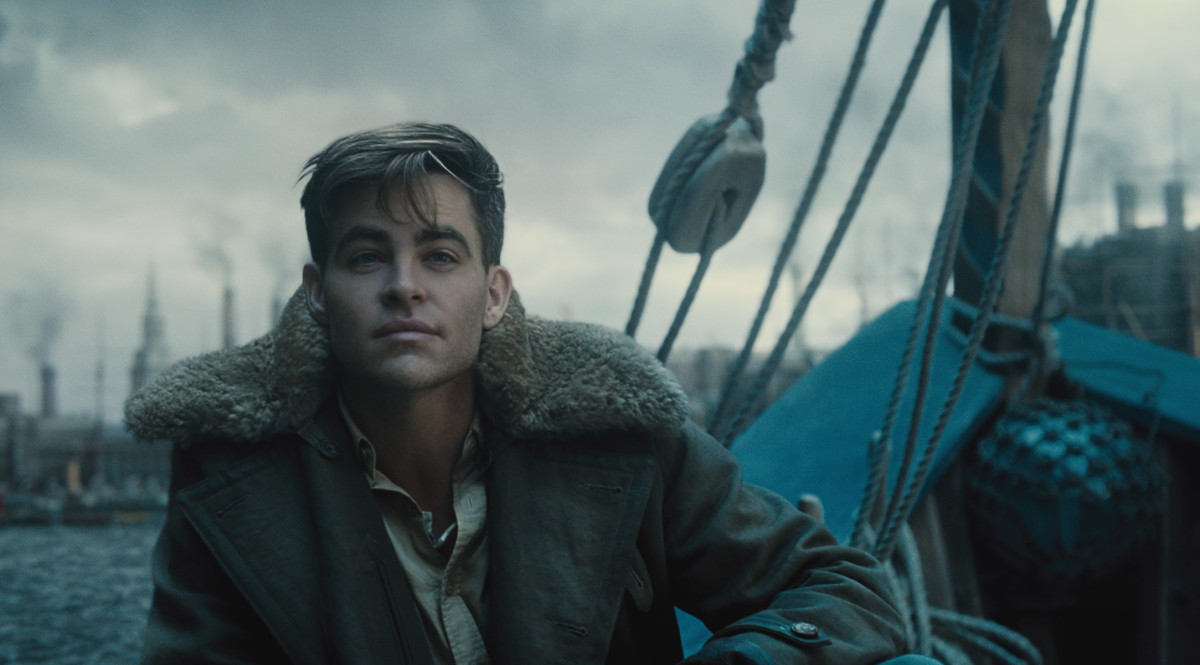"Chris Pine as Steve Trevor in ""Wonder Woman."""