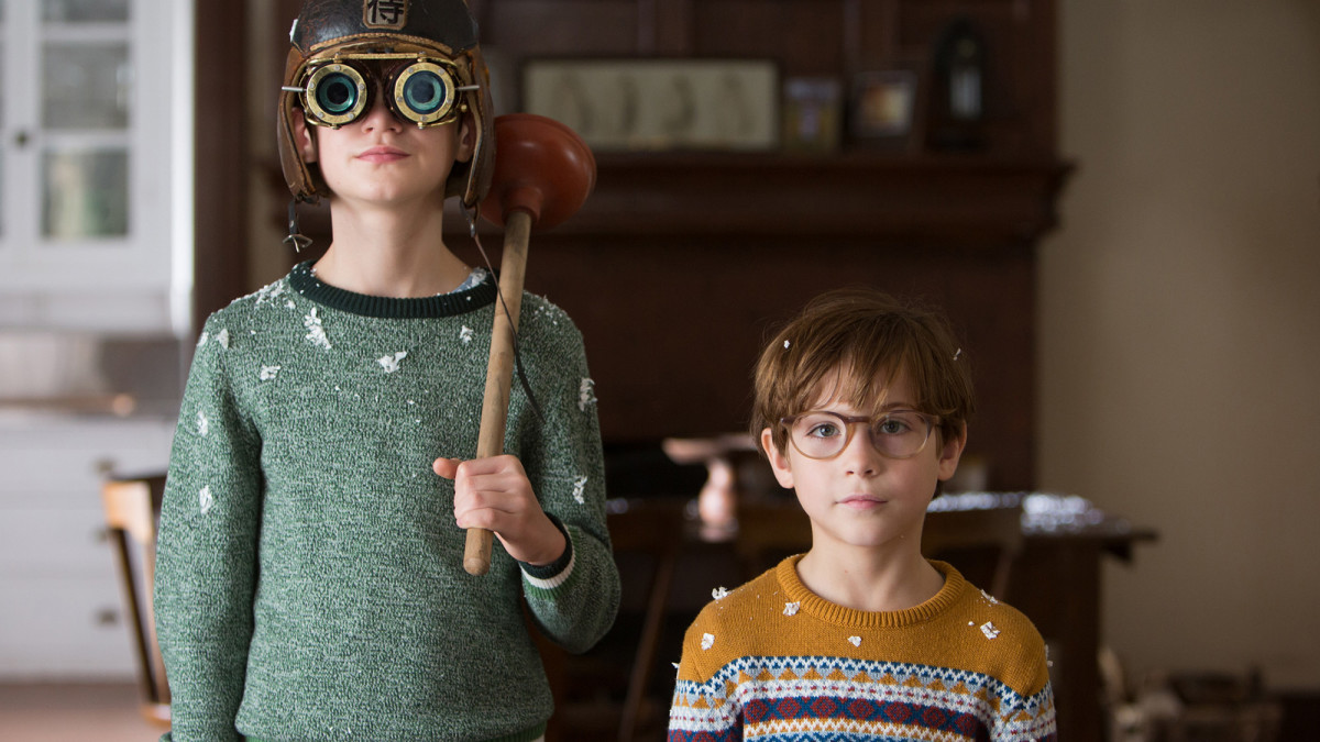 "Jaeden Lieberher and Jacob Tremblay as Henry and Peter Carpenter in ""The Book of Henry."""