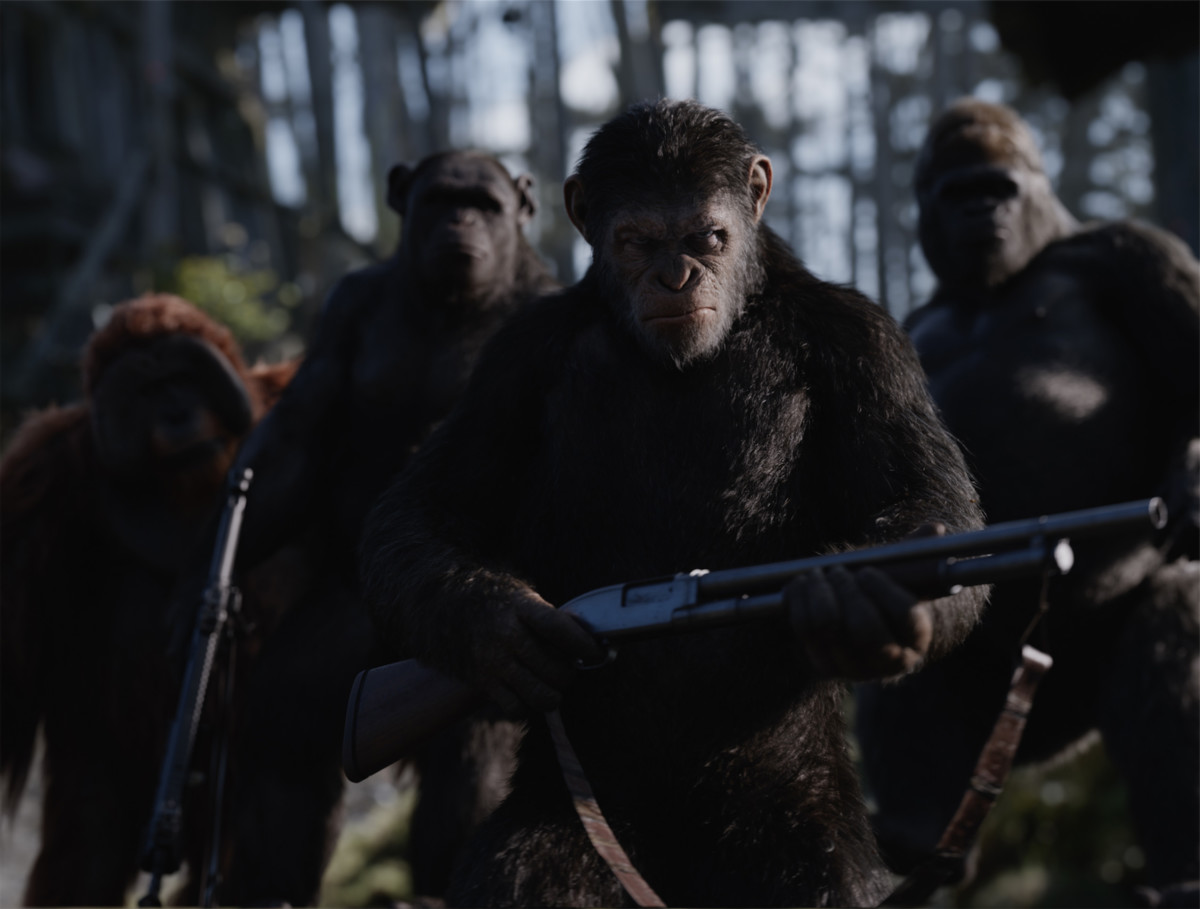 "Caesar (Andy Serkis) leads his brothers in ""War for the Planet of the Apes."""