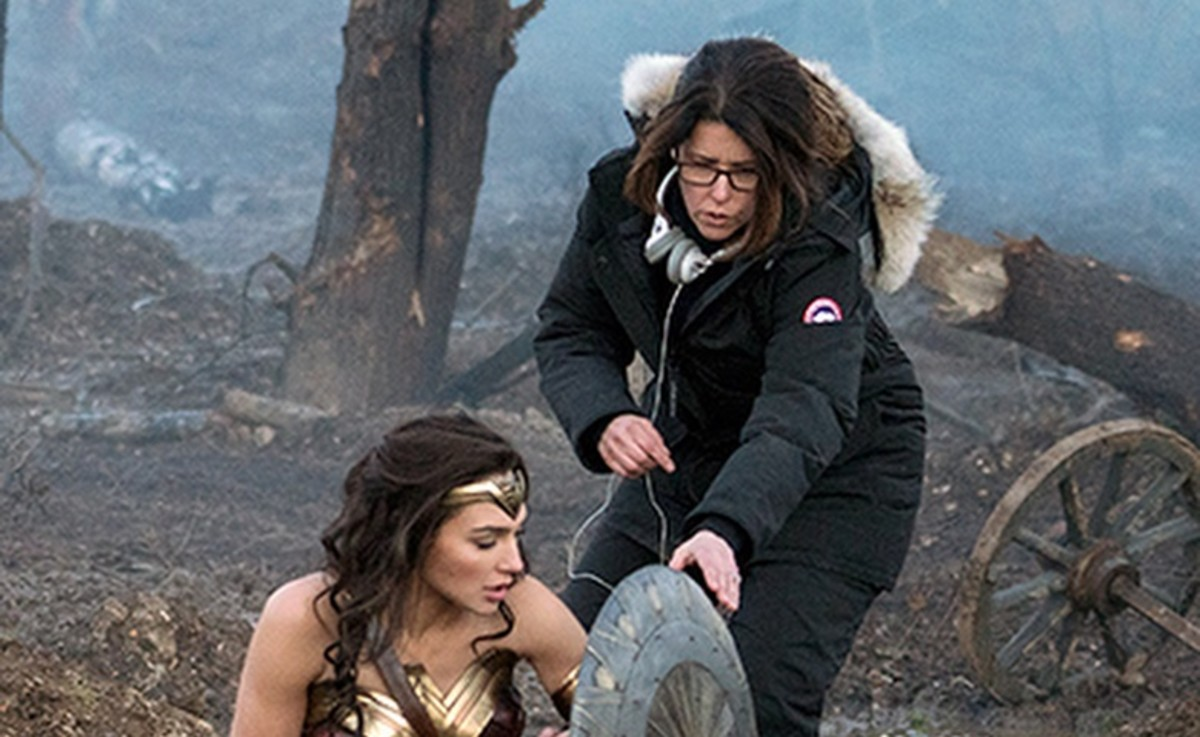 Director Patty Jenkins and Gal Gadot.