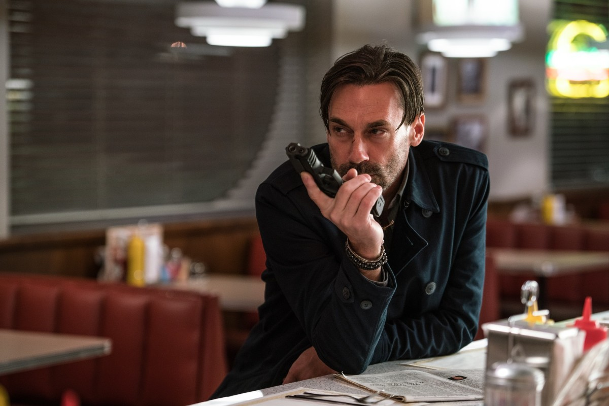 "Jon Hamm as Buddy in ""Baby Driver."""