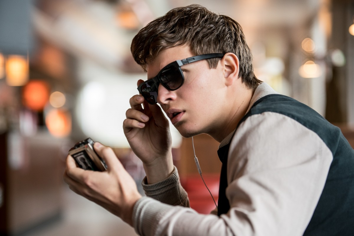 """Ansel Elgort as Baby in """"Baby Driver."""""""