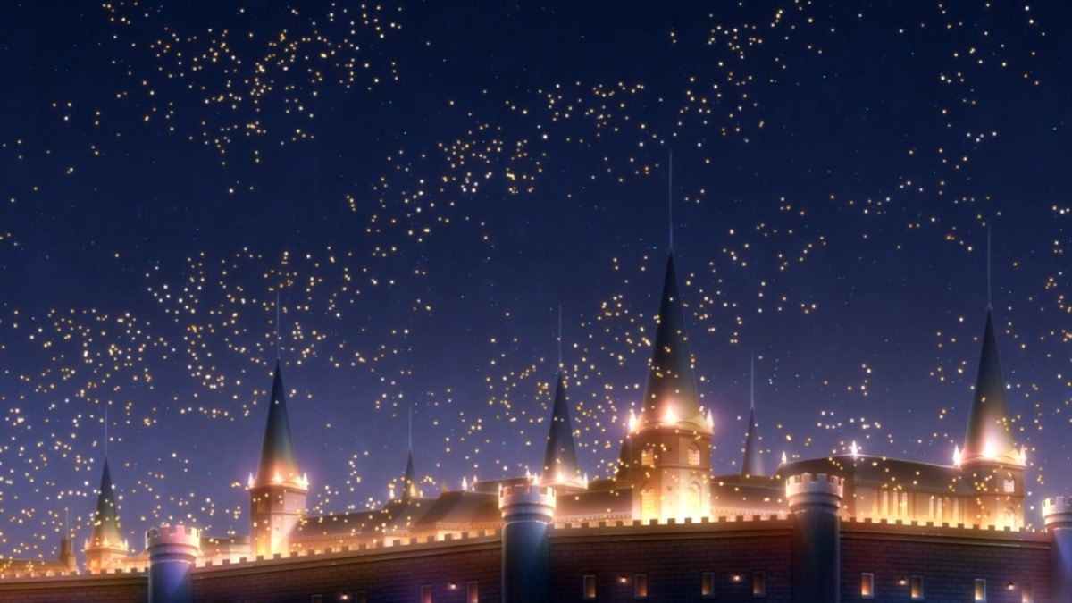 The warm lights of the royal castle are one of Clarines' many wonders Shirayuki comes to appreciate.