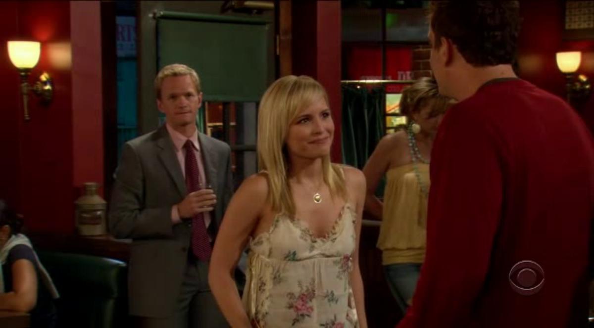 Barney eyeing Marshall's date