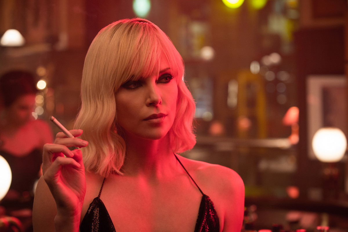 "Charlize Theron mesmerizes as the impressive MI6 agent Lorraine Broughton in ""Atomic Blonde."""