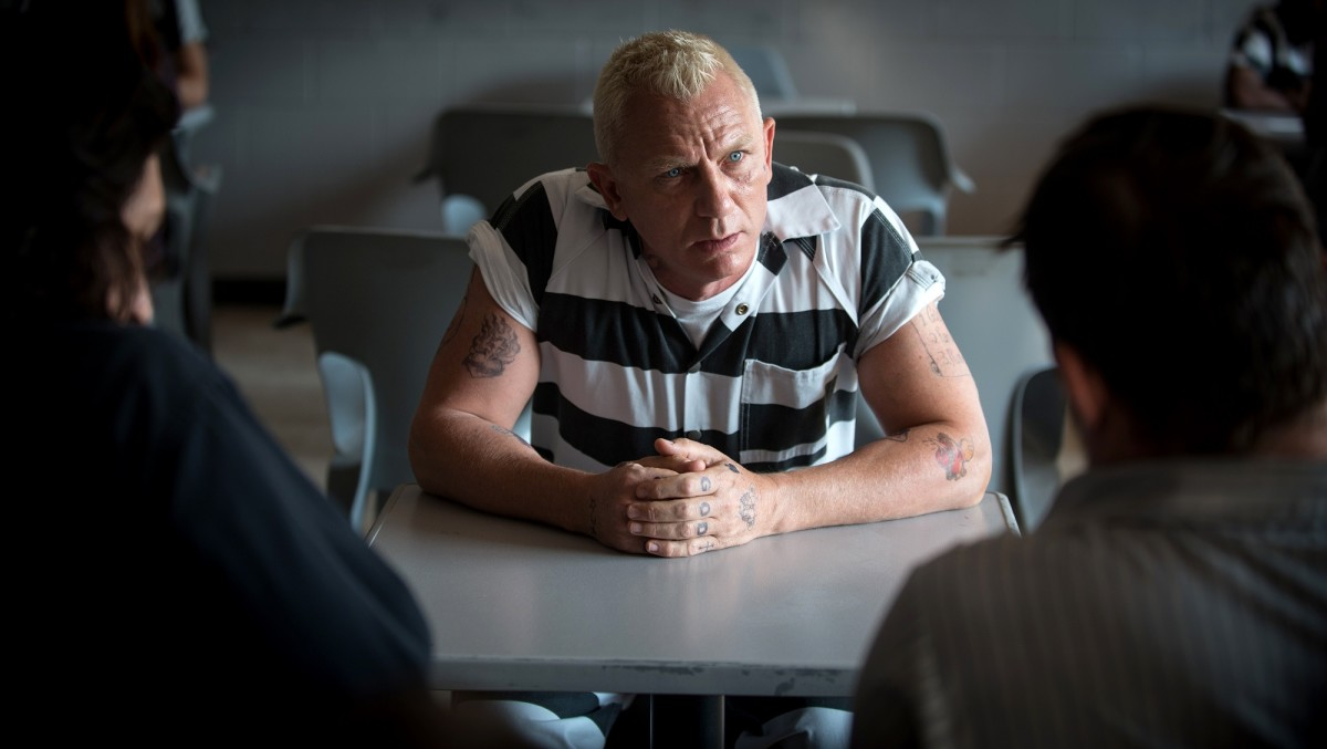"Daniel Craig as Joe Bang in ""Logan Lucky."""