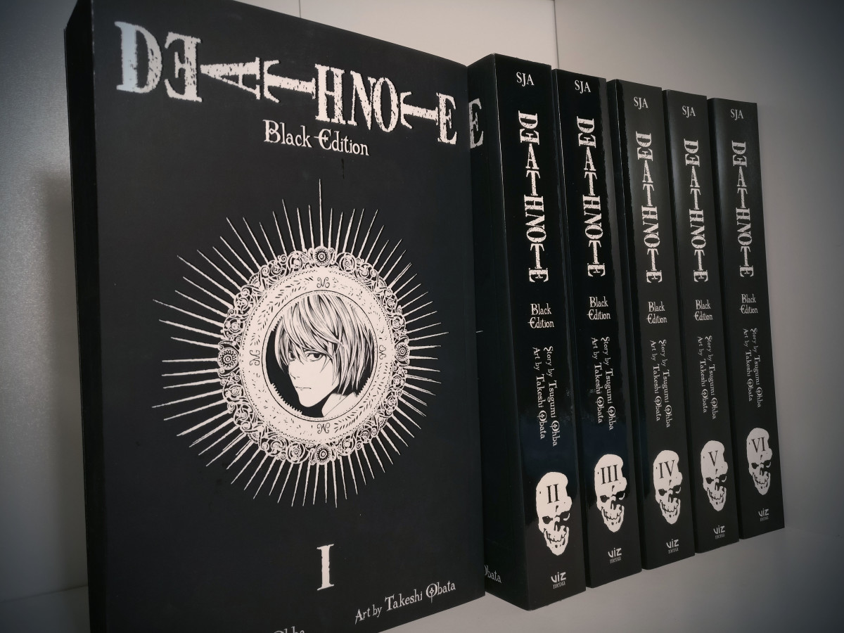 """My personal """"Death Note black"""" complete collection. You can imagine why I'm angry at this movie"""