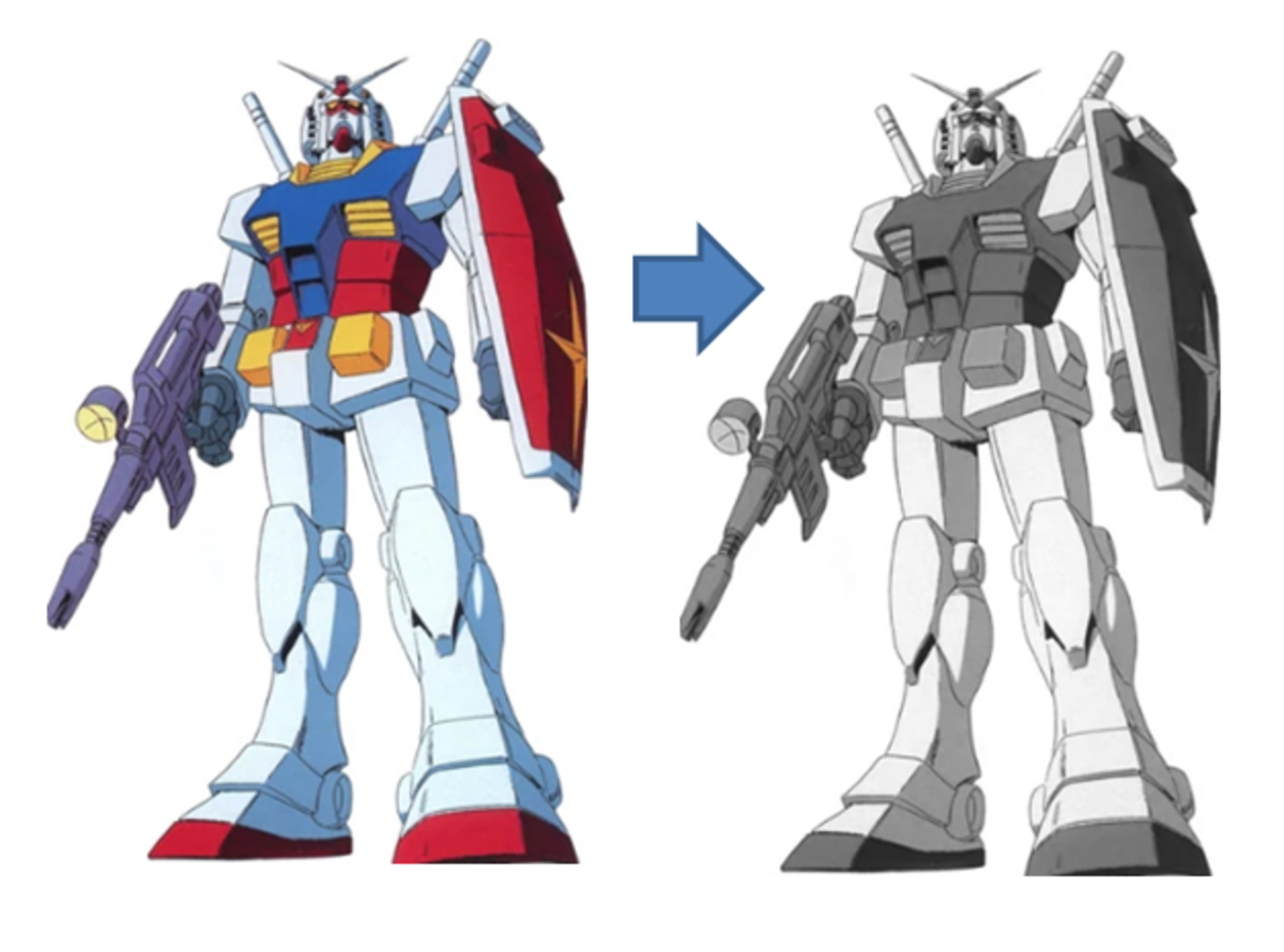 This is what the first Gundam was supposed to look like.