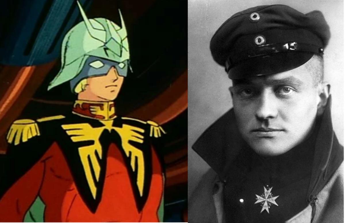 Char Aznable (left) and Manfred von Richthofen (right).