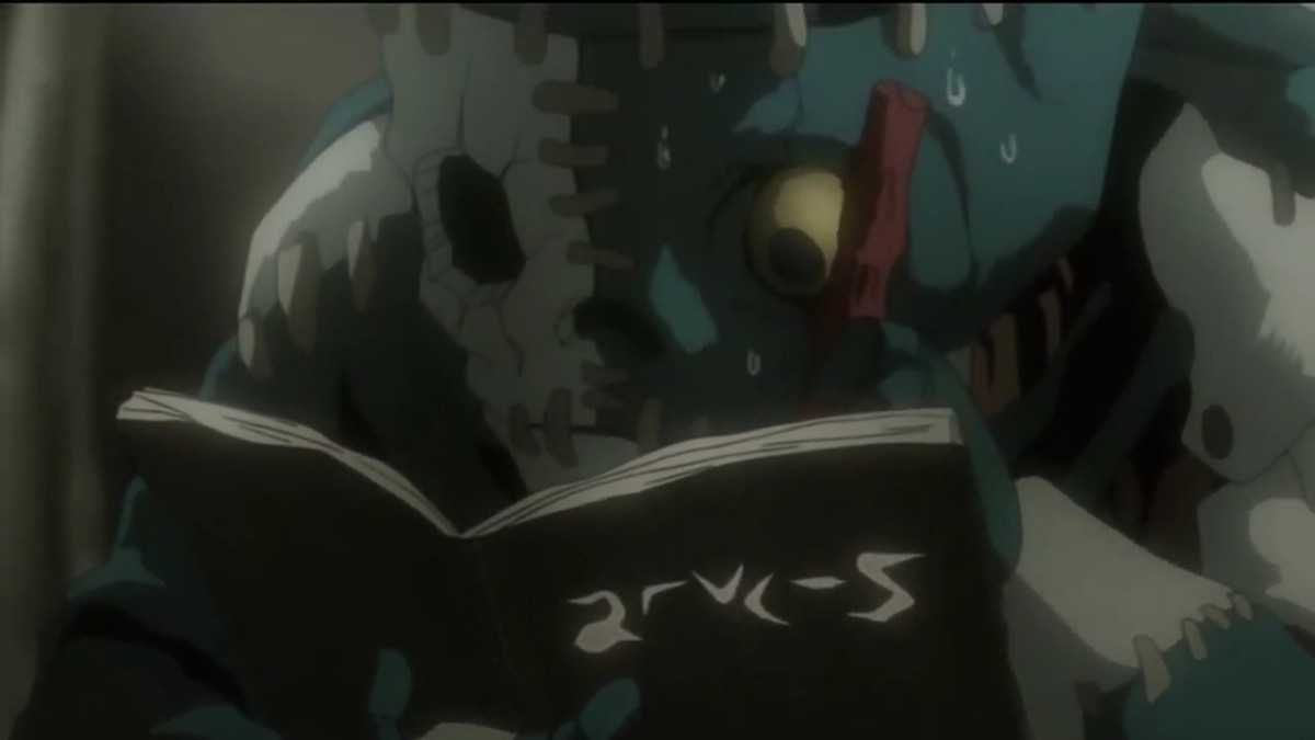 Jealous and his Death Note...do the letters look similar to your eyes too?