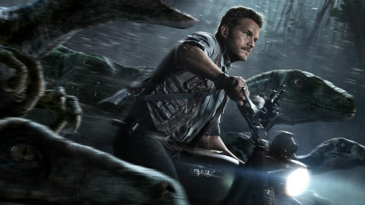 "Actor Chris Pratt starred in ""Jurassic World"" as a velociraptor trainer turned hero.  In interviews, Pratt has called himself more of an athlete than an actor."