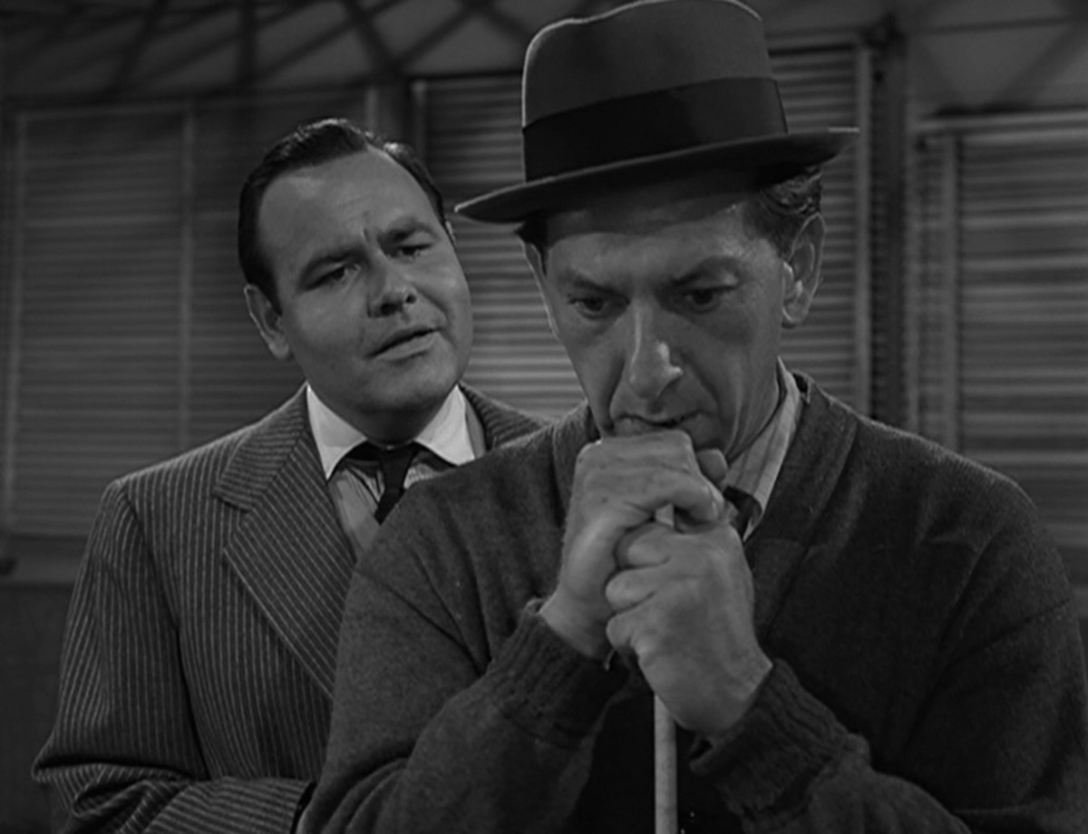 """Jack Klugman and Jonathan Winters in """"A Game of Pool."""""""