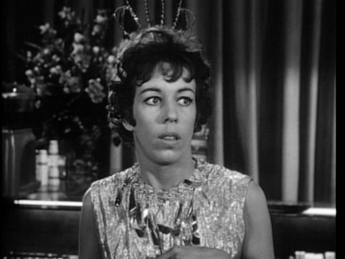 "Carol Burnett in ""Cavender Is Coming."""