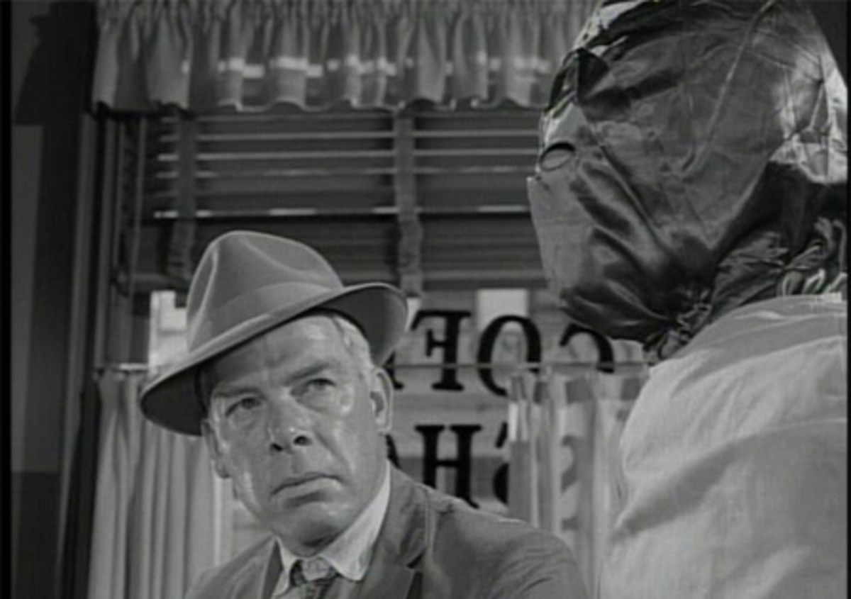 "Lee Marvin in ""Steel."""