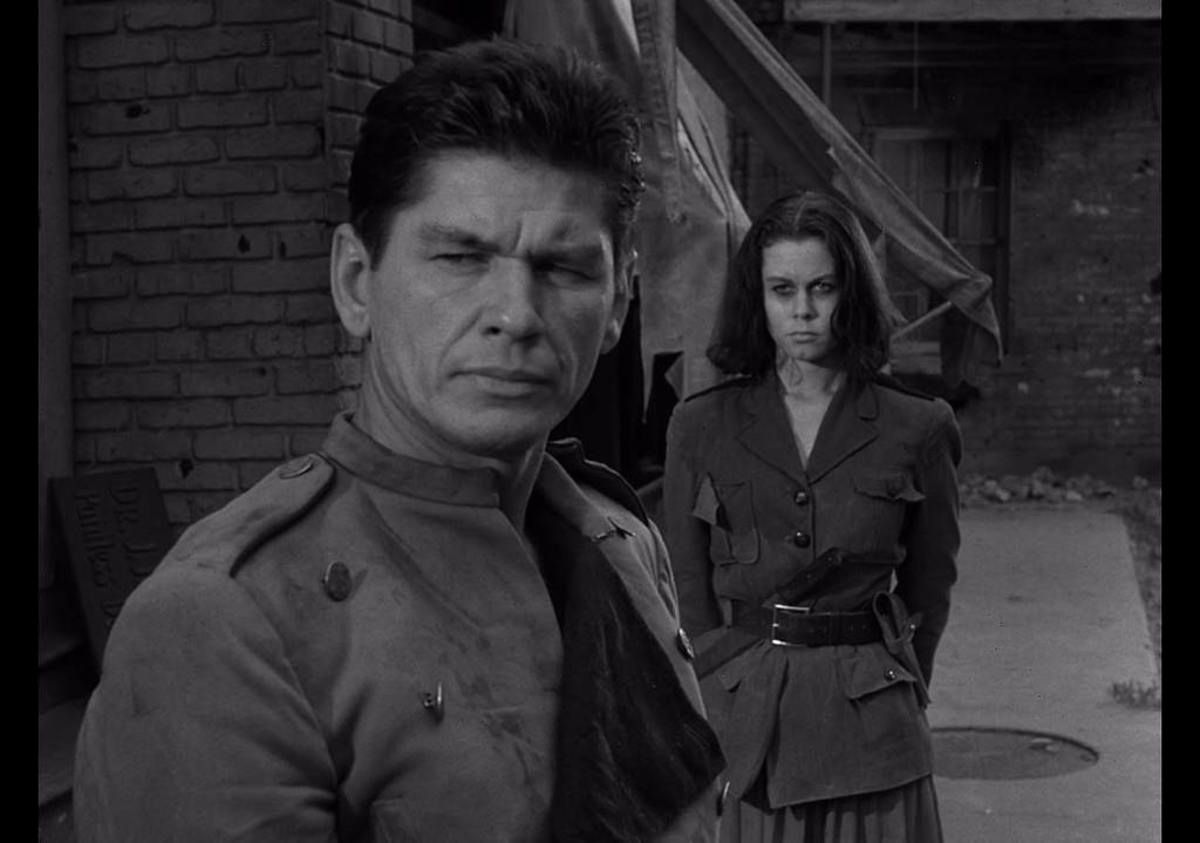 "Elizabeth Montgomery and Charles Bronson in ""Two."""