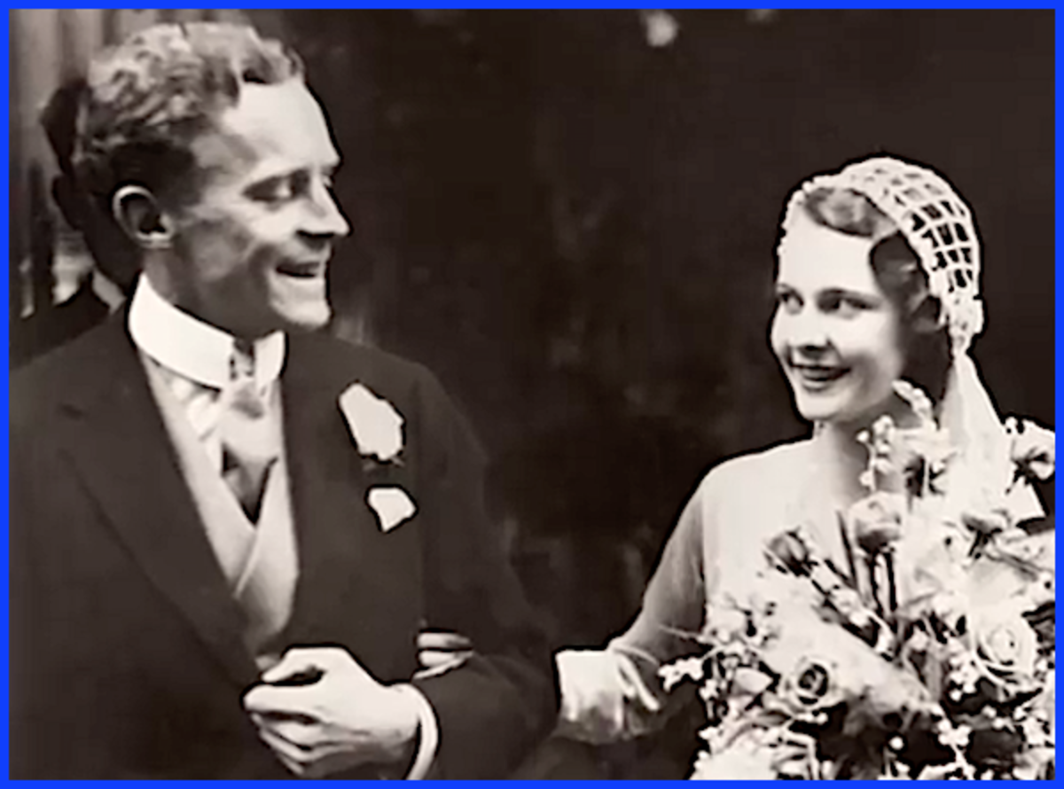 Vivien Leigh on her wedding day in 1932 to a barrister named Leigh Holman.  They would have one child, a daughter, whom they named Suzanne.  The couple divorced in 1940 and Leigh immediately wed actor Laurence Olivier.
