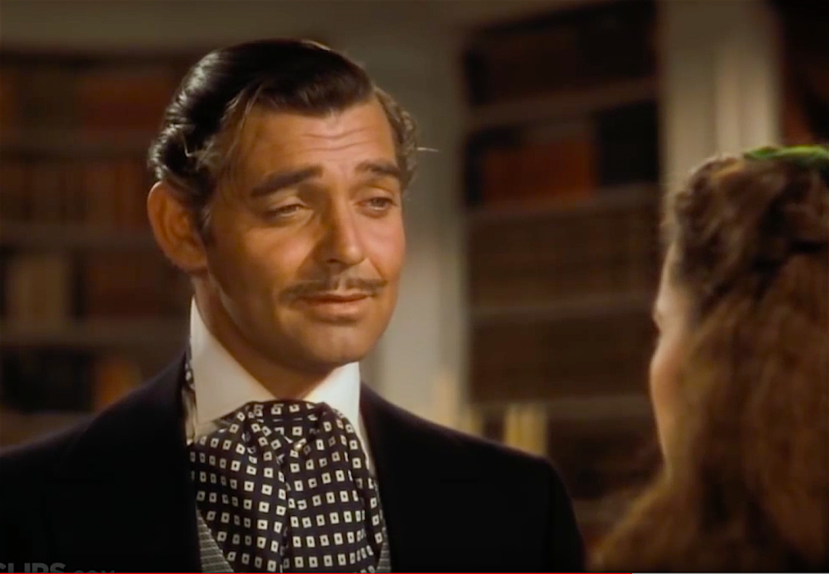 "Clark Gable as the lovable rogue Rhett Butler in ""Gone with the Wind."""