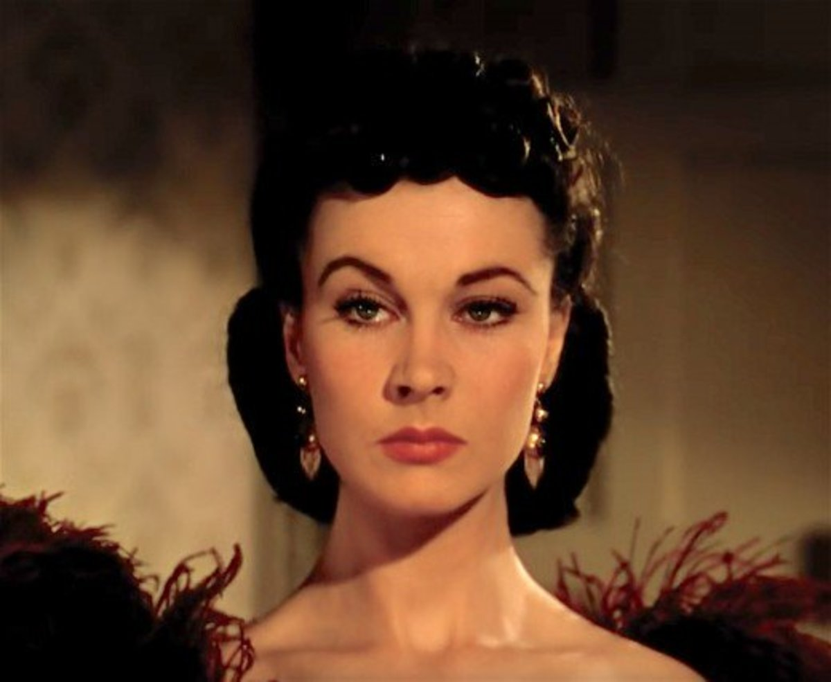 Vivien Leigh as Scarlett O'Hara.