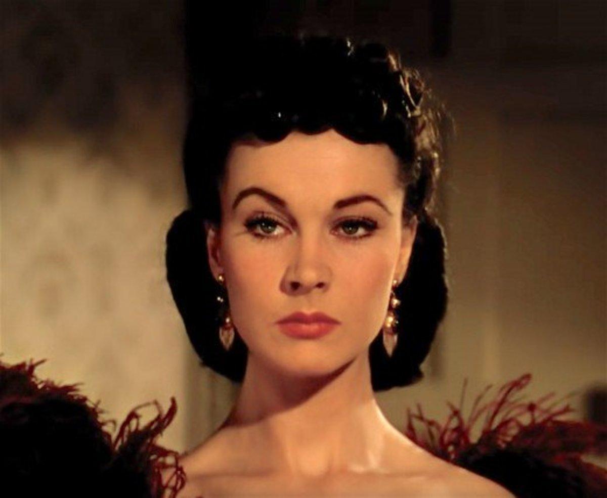 Vivien Leigh as Scarlett O'Hara.