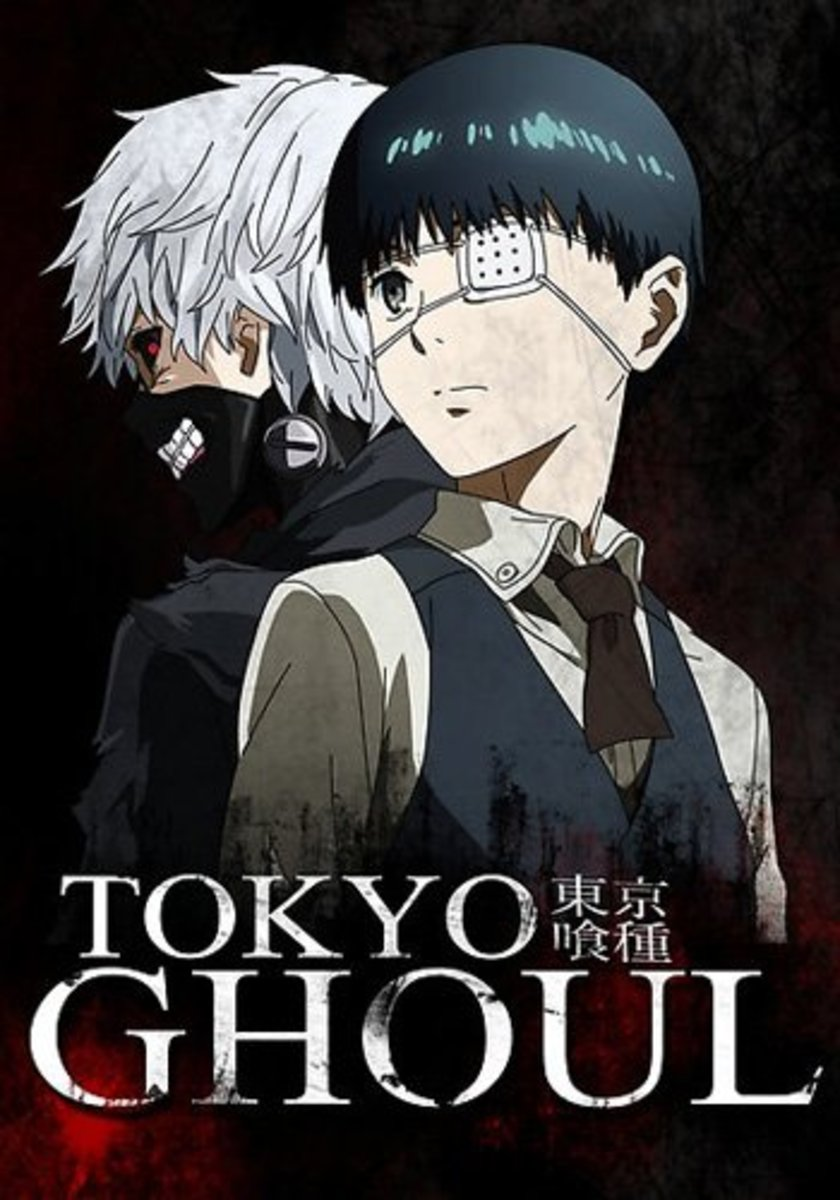 The duality here is intense yet frightening.  THIS his how you do the cover art for a horror/action anime.