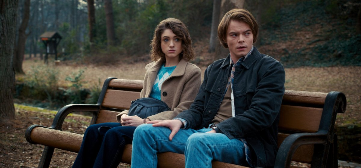 Nancy (Natalia Dyer) and Jonathan (Charlie Heaton)