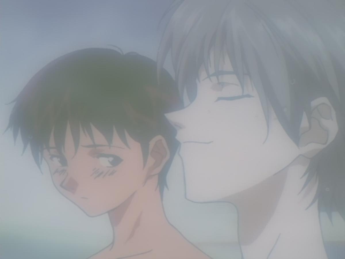 Seeing Shinji and Kaworu together tickles their imaginations.