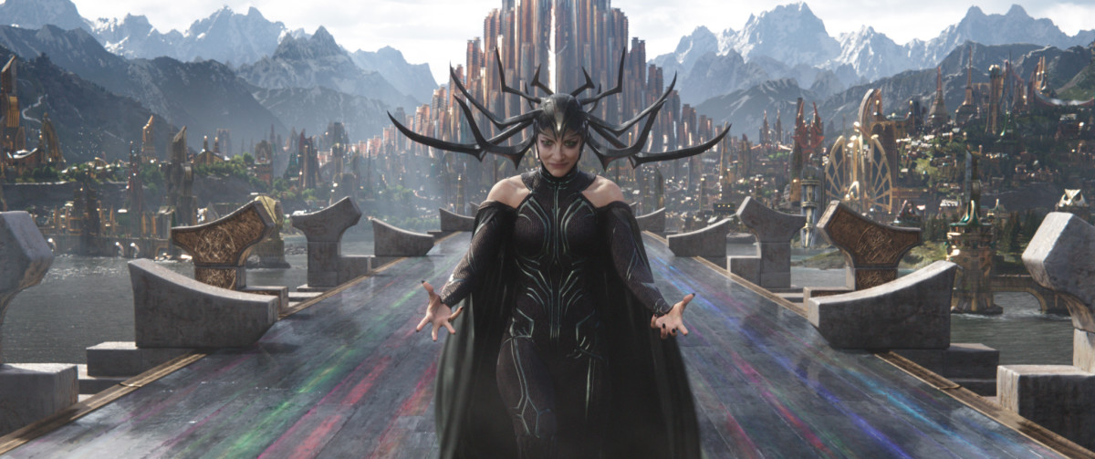 Hela as played by Cate Blanchett