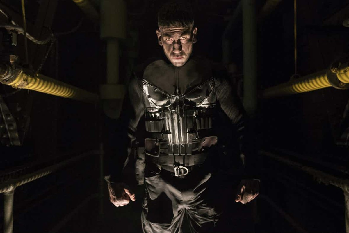 Looming in the shadows, Jon Bernthal as the Punisher