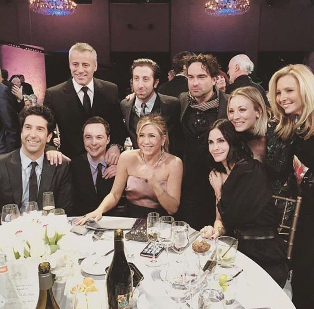 Various members of the cast of 'Friends' and 'The Big Bang Theory.' If only the two shows could meet for just one episode.