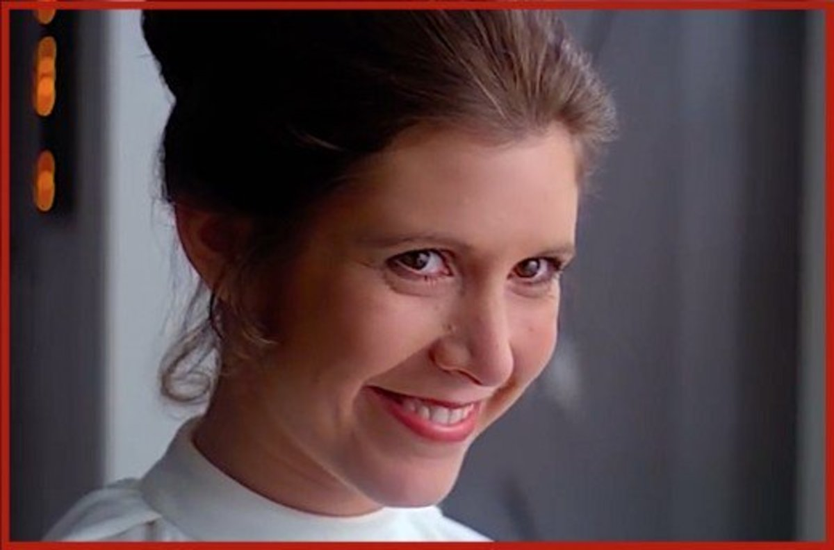 Carrie Fisher as Star Wars' Princess Leia.
