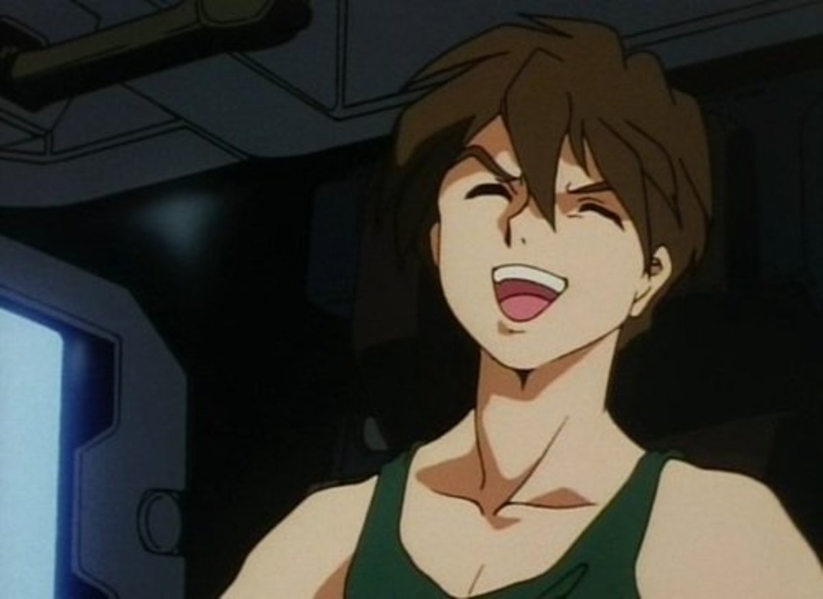 And Heero's villainous laugh says it all.