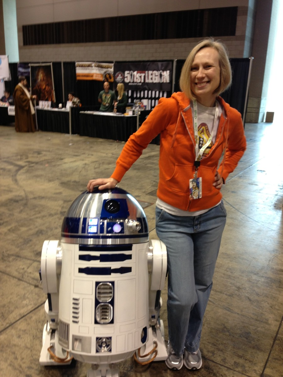 Here I am with Star Wars' R2-D2, at the Chicago Comic & Entertainment Expo (C2E2). A robot we definitely all want in real life.