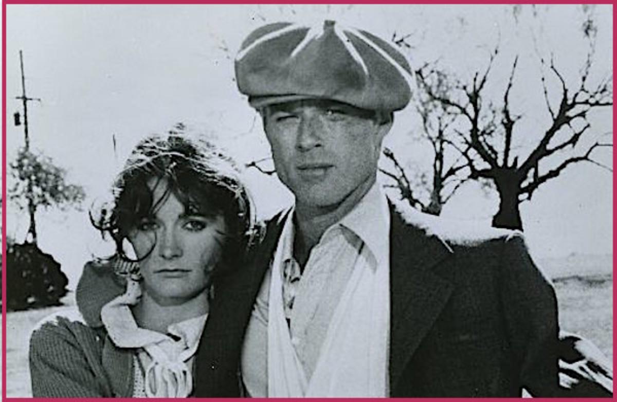 "Margot Kidder and Robert Redford in ""The Great Waldo Pepper."""