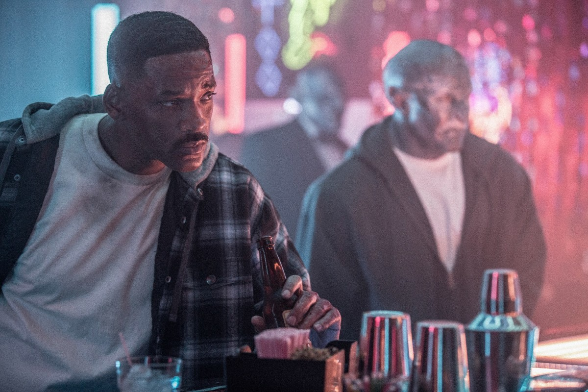 "Will Smith and Joel Edgerton as Daryl Ward and Nick Jakoby in ""Bright."""