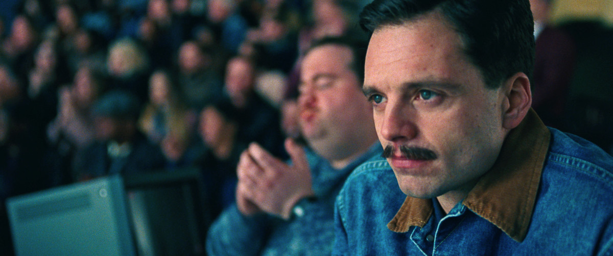 "Sebastian Stan as Jeff Gillooly in, ""I, Tonya."""