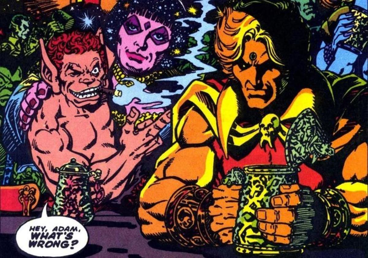 Pip and Adam Warlock, and odd couple.