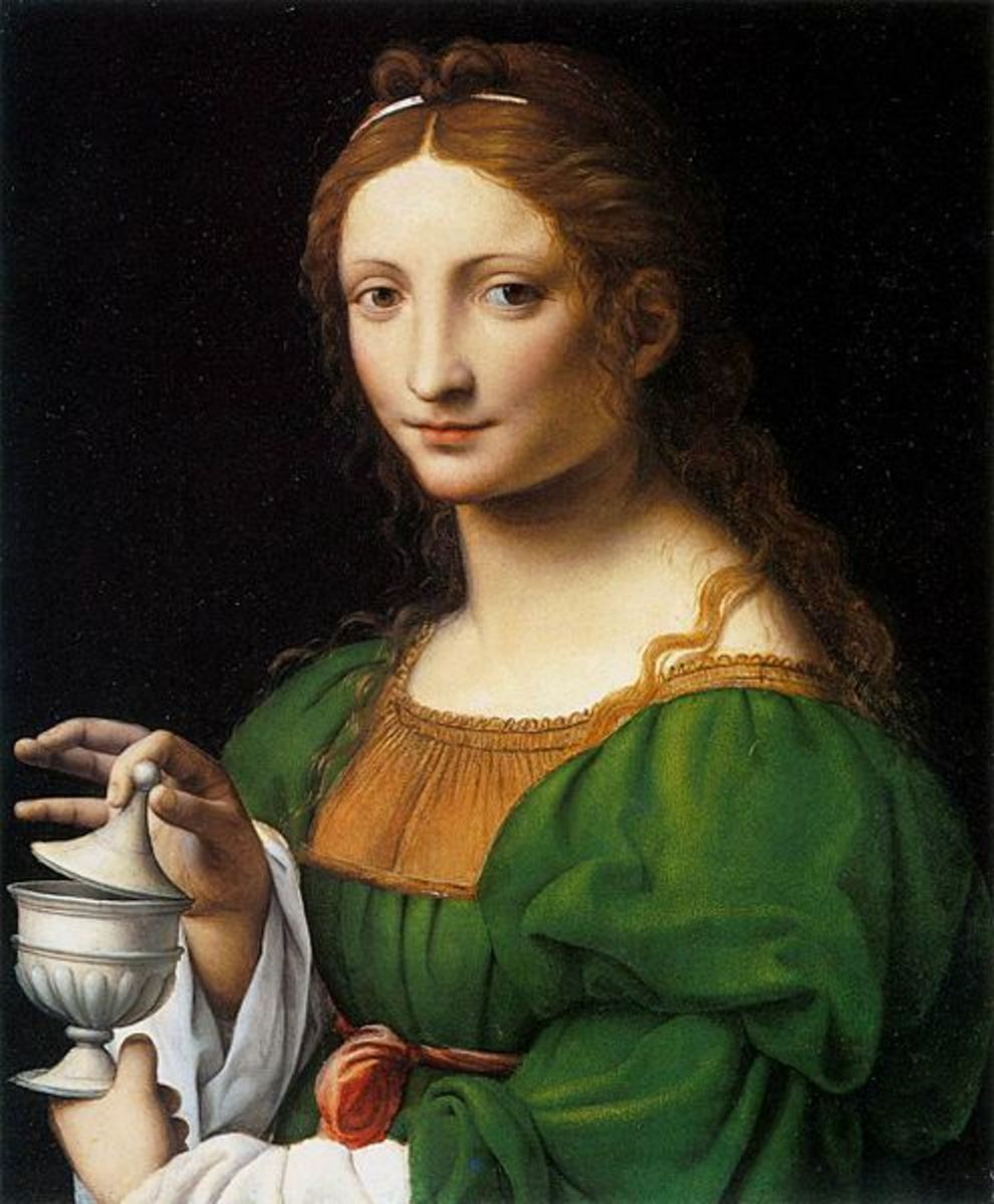 Mary Magdalene by Bernardino Luini (1480-1532). Created circa 1525. National Gallery of Art.
