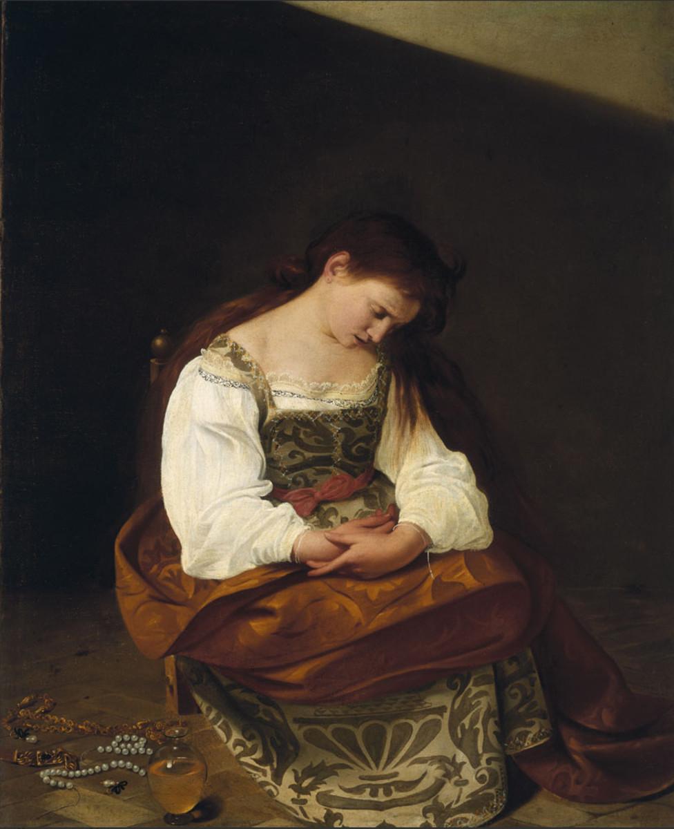 The penitent Mary Magdalen (c. 1598) by Michelangelo Merisi da Caravaggio (1571-1610).