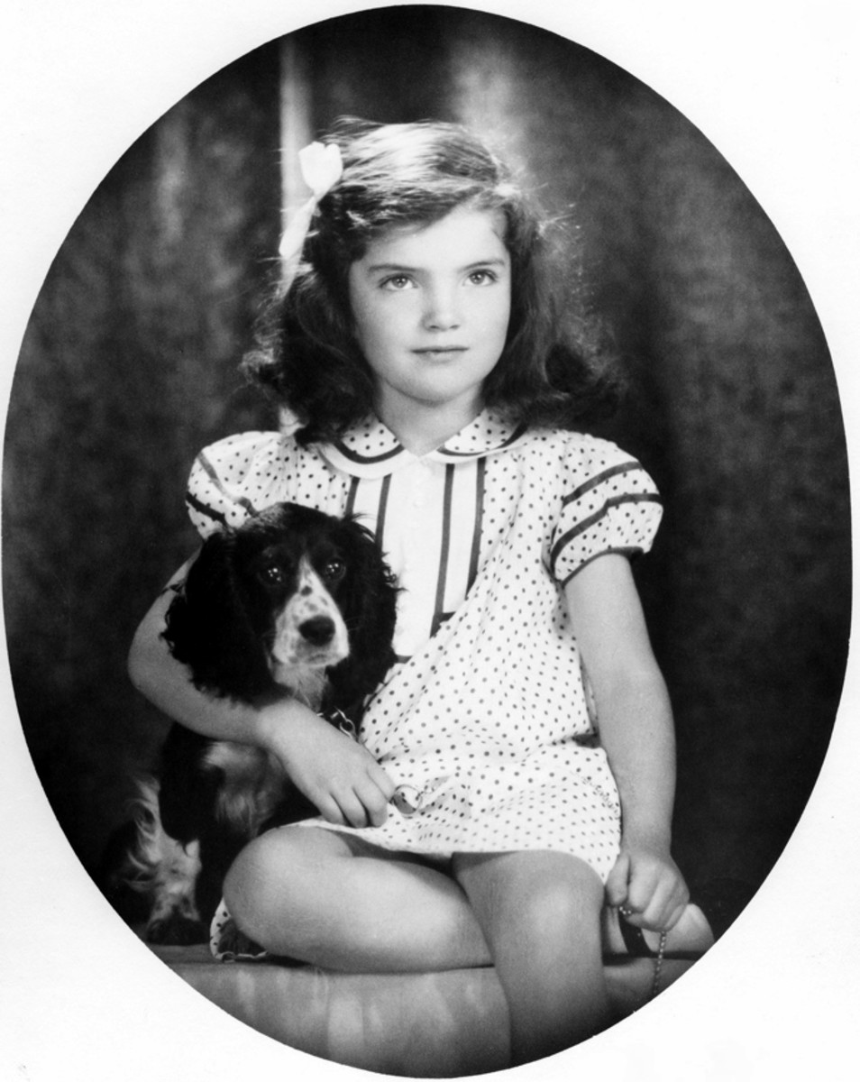 Jacqueline Bouvier, 1934, by David Berne in the John F. Kennedy Presidential Library and Museum, Boston.