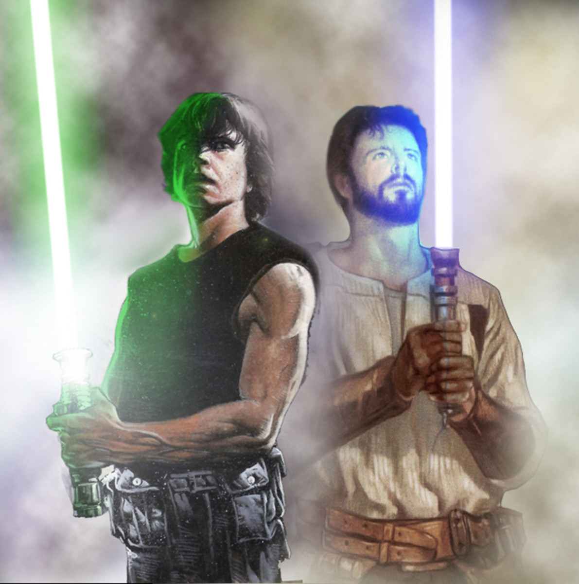 Luke Skywalker and Kyle Katarn