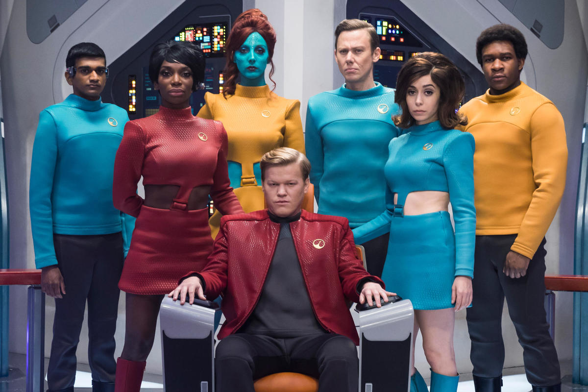 The cast for S4E1 USS Callister