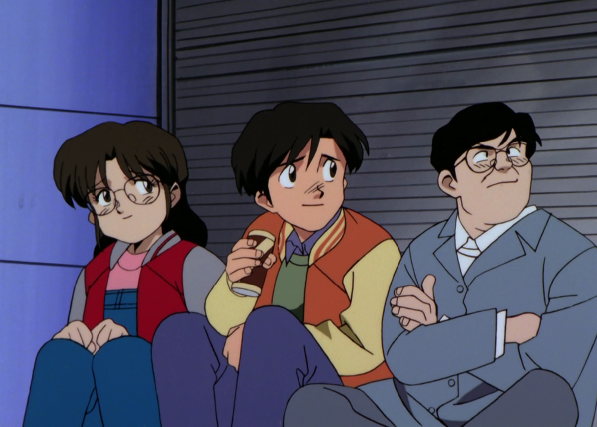 Kubo, Tanaka, and Sato camp out for the premiere of Nausicaa of the Valley of the Wind.