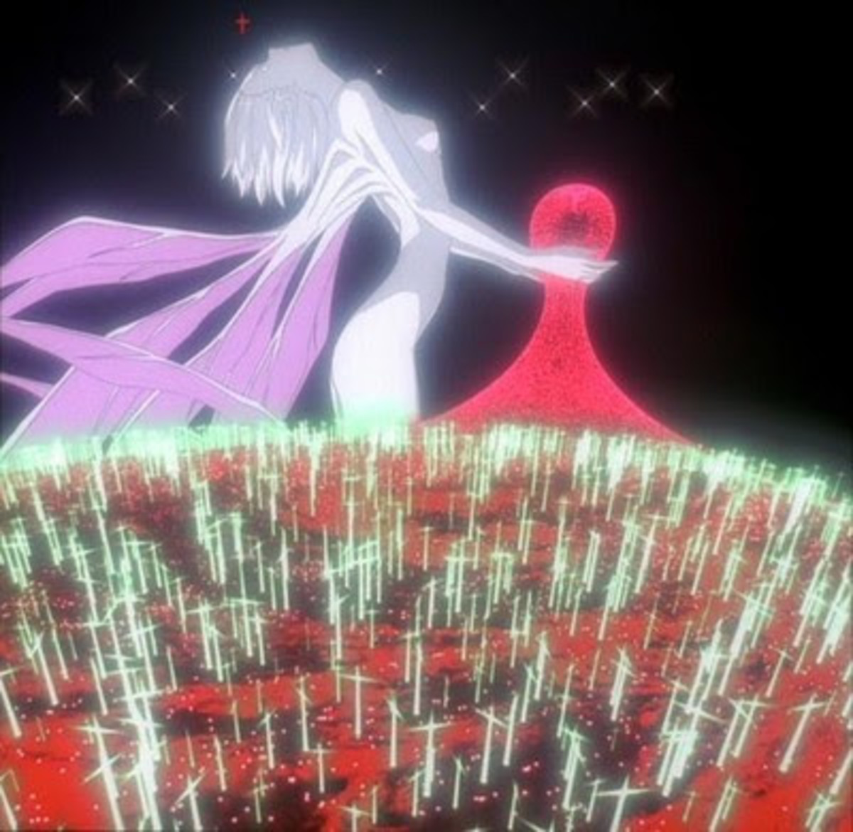 In the End of Evangelion, we see a lot of these.