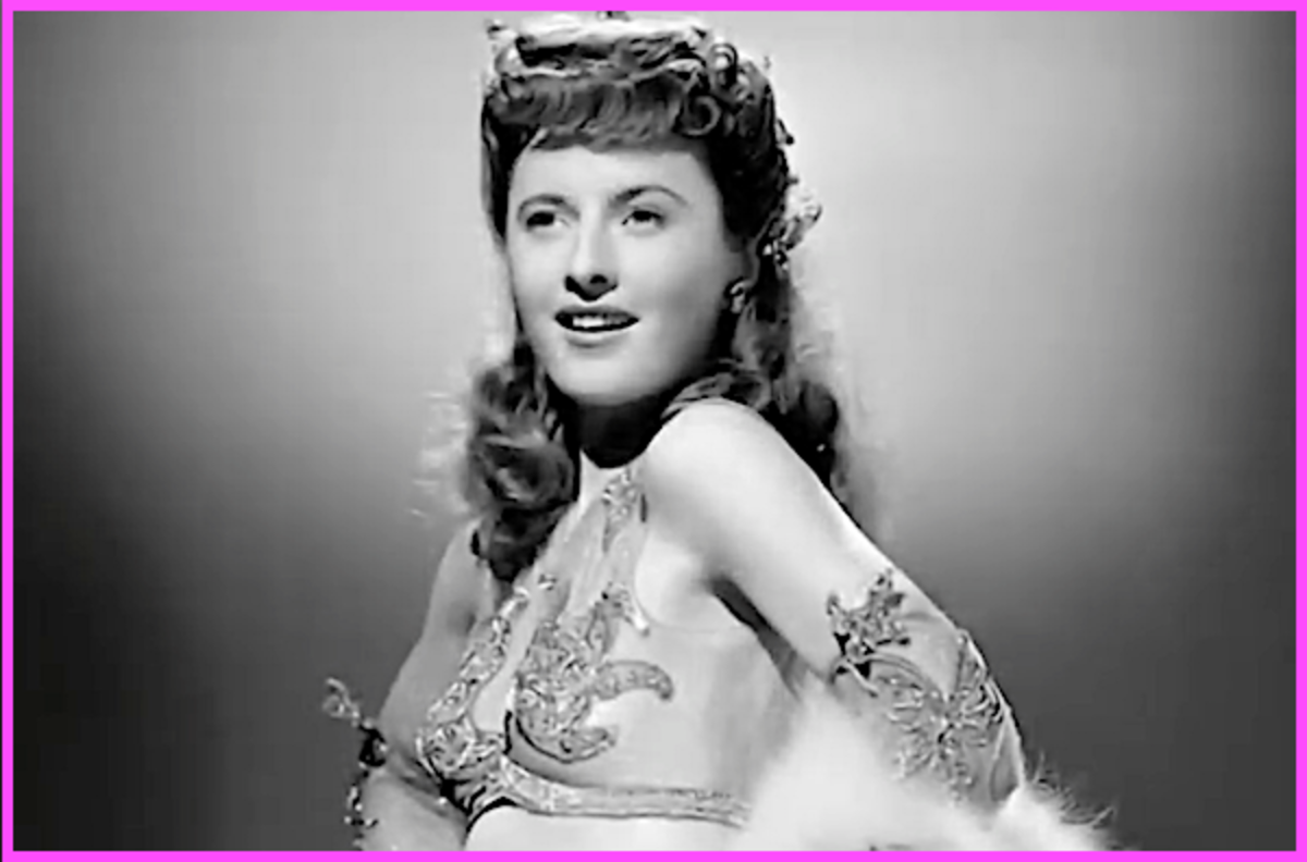When she was younger, Barbara Stanwyck quit school and later became a showgirl.
