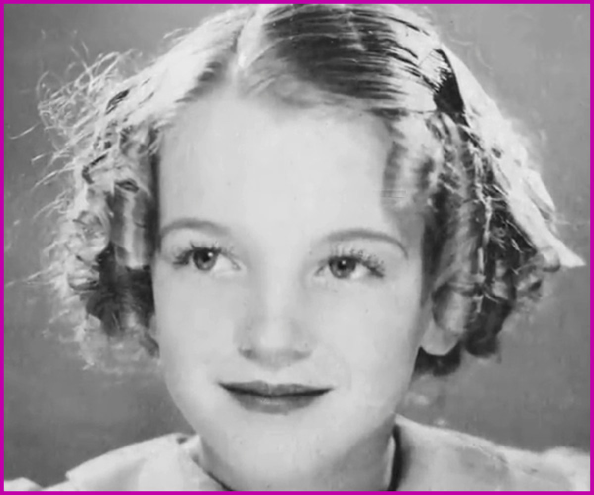 "Looking at this sweet and innocent young face, it's hard to believe that in the future this young lass will become the greatest sex symbol in the world, one day to be known as ""Marilyn Monroe."""