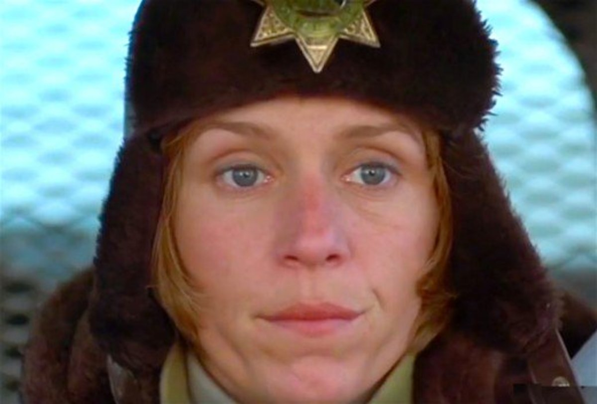 Actress Frances McDormand played a pregnant sheriff tracking down a murderer in Fargo.